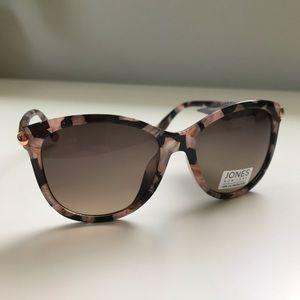 Jones New York Black Pink Tortoises Sunglasses